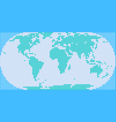 Square dot world map vector