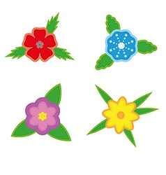 Sticker flowers on a white background vector