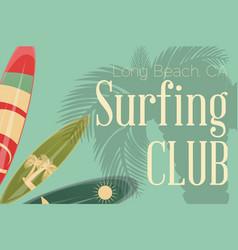 Surfing retro poster vector