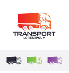 truck expedition logo vector image