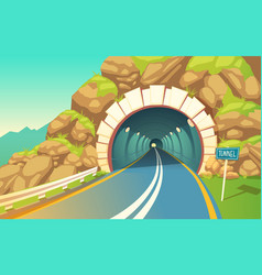 Tunnel highway vector