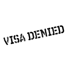 Visa Denied rubber stamp vector image