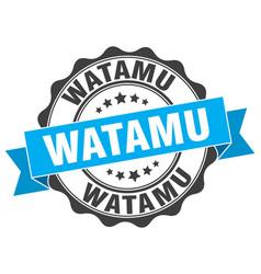 watamu round ribbon seal vector image
