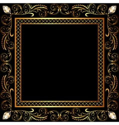 background frame ornaments vector image