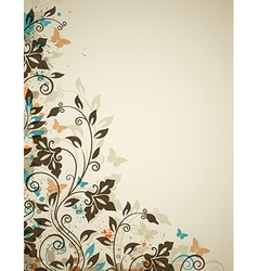 Decorative vintage background with flowers vector image