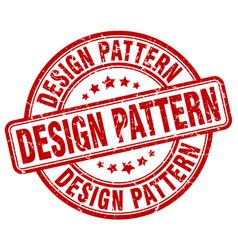 Design pattern red grunge stamp vector