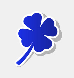leaf clover sign new year bluish icon vector image