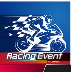 racing event vector image
