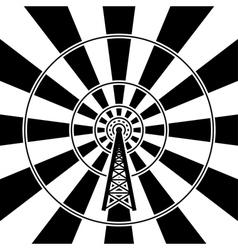 radio tower vector image vector image
