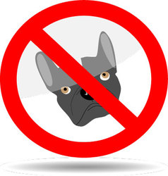 Sign ban dog vector image vector image