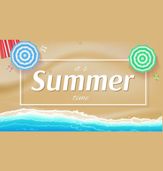 summer background banner with seashore sun vector image vector image