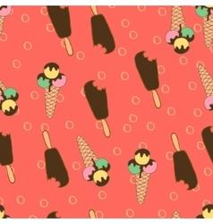 Summer Seamless Pattern Ice Creams2 vector image