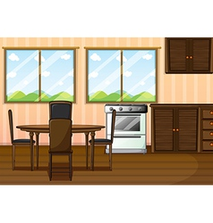 A clean dining room vector image vector image