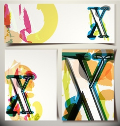 Artistic Greeting Card Letter X vector image