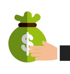 bag money protection isolated icon design vector image