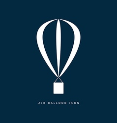 balloon air icon in white color on blue vector image