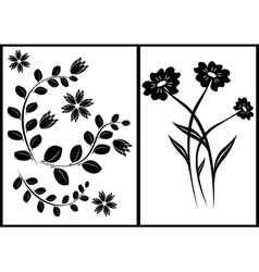 black elements for design vector image vector image