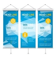 Business Background Roll Up with Abstract vector image vector image
