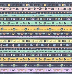 Multicolored ethno pattern vector image vector image