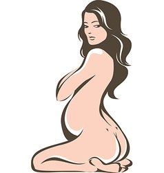 Beautiful pregnant woman vector image