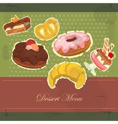 dessert menu cover vector image vector image