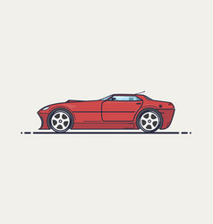 fictional sport car vector image