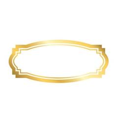Gold frame Beautiful golden design vector image vector image