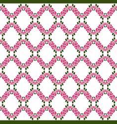 rose lattice pattern vector image vector image