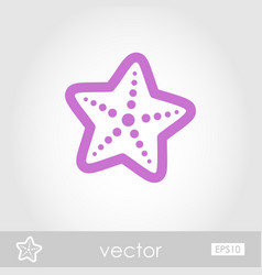 starfish outline icon summer vacation vector image