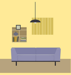 the interior of the room vector image vector image