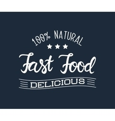 White logo for the fast food restaurant and vector image