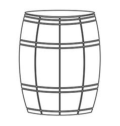 Wine or beer barrels black color path icon vector