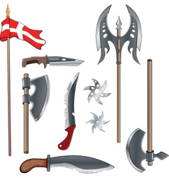 A military weapon set for a computer game vector image