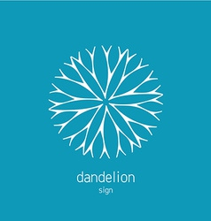 Dandelion logo template cosmetics natural symbol vector