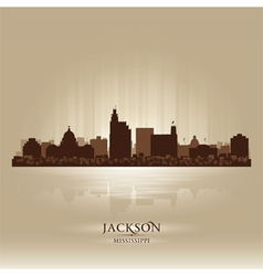 Jackson Mississipi skyline city silhouette vector image vector image