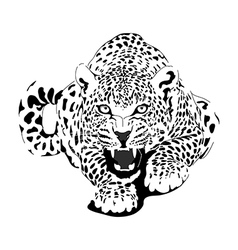 Leopard in black interpretation vector image