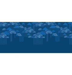Rain clouds horizontal seamless pattern background vector image vector image