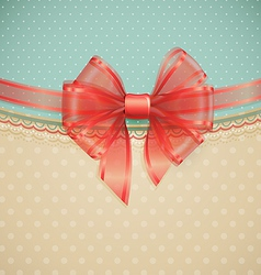 red transparent bow vector image vector image