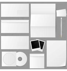 Set of paper envelopes vector image vector image