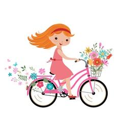 Summer little girl vector image vector image