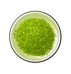 top view drawing of matcha green tea powder in vector image vector image