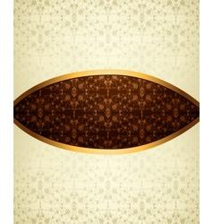 Vintage brown ornament vector image