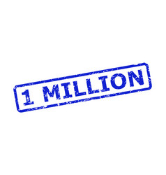 1 million watermark with corroded style vector