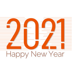 2021 happy new year banner design vector image
