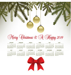 a pine motif merry christmas background vector image