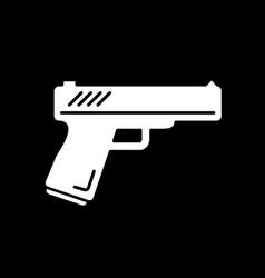 Action flick dark mode glyph icon vector