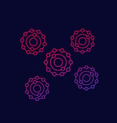 Antioxidants icon with gradient vector