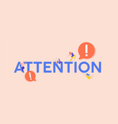 Attention exclamation point vector