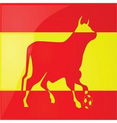 Bull spanish soccer 2 vector