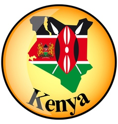 Button Kenya vector